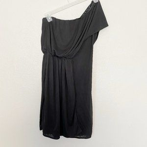 ZARA Collection Evening One Shoulder Black Dress